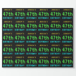 [ Thumbnail: Fun Vintage/Retro Video Game Look 47th Birthday Wrapping Paper ]
