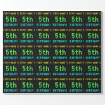 [ Thumbnail: Fun Vintage/Retro Video Game Look 5th Birthday Wrapping Paper ]