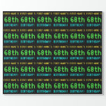 [ Thumbnail: Fun Vintage/Retro Video Game Look 68th Birthday Wrapping Paper ]