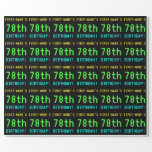 [ Thumbnail: Fun Vintage/Retro Video Game Look 78th Birthday Wrapping Paper ]