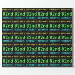 [ Thumbnail: Fun Vintage/Retro Video Game Look 82nd Birthday Wrapping Paper ]
