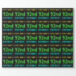 [ Thumbnail: Fun Vintage/Retro Video Game Look 92nd Birthday Wrapping Paper ]