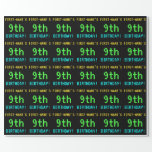 [ Thumbnail: Fun Vintage/Retro Video Game Look 9th Birthday Wrapping Paper ]