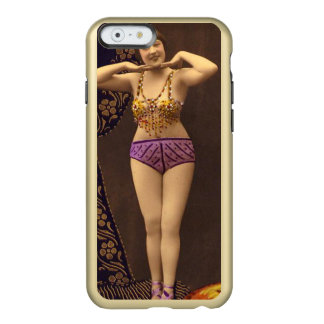 Fun Vintage Showgirl in purple and Gold Incipio Feather Shine iPhone 6 Case