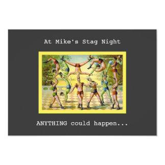 Fun Vintage Stag Night Card