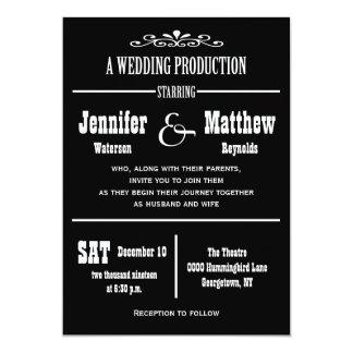 Fun Vintage Theatre Wedding Invitations