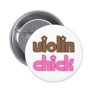 Fun Violin Chick Button