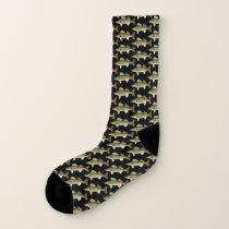 Fun Walleye Pike Pattern Socks