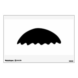 FUN WALRUS STYLE MUSTACHE WALL DECAL