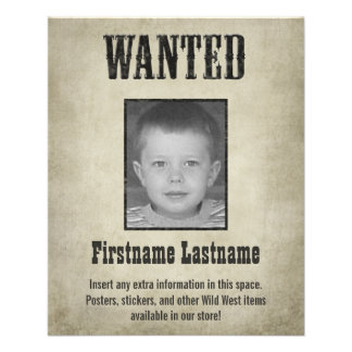 Fun WANTED poster design Flyer