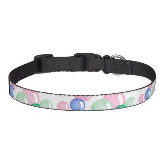 Fun Watercolor Bubbles on White Pet Collar