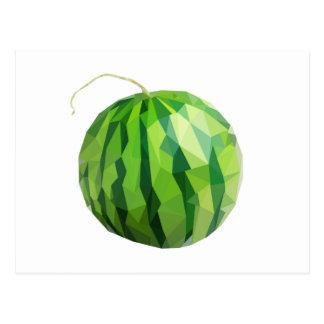 Fun Watermelon Design Postcard