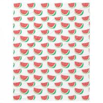 Fun Watermelon Pattern Fleece Blanket