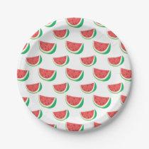 Fun Watermelon Pattern Paper Plate