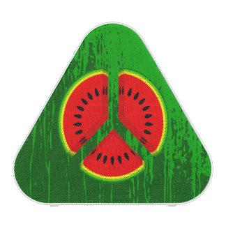 Fun Watermelon Peace Bright Colours Bluetooth Speaker