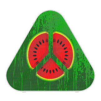 Fun Watermelon Peace Bright Colours Bluetooth Speaker