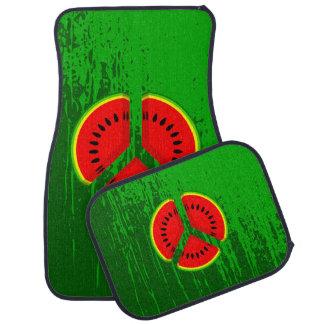 Fun Watermelon Peace Bright Colours Car Mat