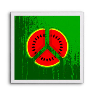 Fun Watermelon Peace Bright Colours Envelope