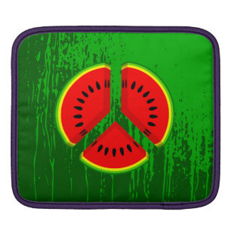 Fun Watermelon Peace Bright Colours Sleeves For iPads