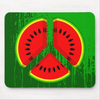 Fun Watermelon Peace Bright Colours Mouse Pad