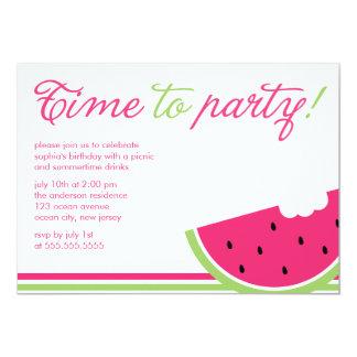 Fun Watermelon Summer Party Card