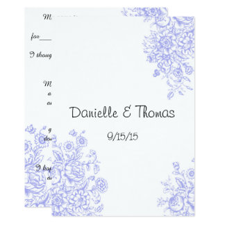 Fun Wedding Advice, Lavender Comment Cards