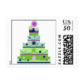 Fun Wedding Cake Postage Stamp