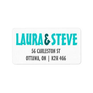 Fun Wedding Invitation Label