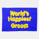 Fun Weddings & Happy Grooms  Worlds Happiest Groom Hand Towels