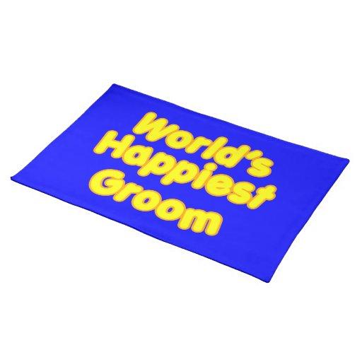 Fun Weddings & Happy Grooms  Worlds Happiest Groom Placemats