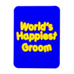 Fun Weddings & Happy Grooms  Worlds Happiest Groom Magnets