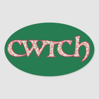 Fun Welsh Cwtch Stickers: Clematis Pattern