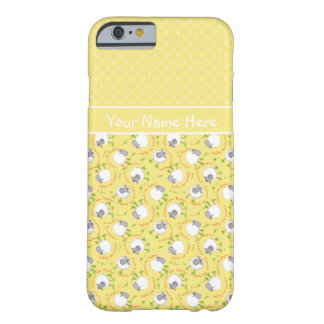 Fun Welsh Sheep on Yellow Mix'n'Match Patterns Barely There iPhone 6 Case
