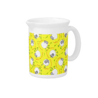 Fun Welsh Sheep, Wales Forever Custom Pitcher