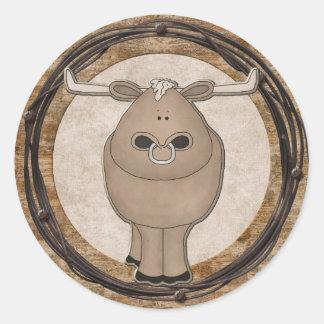 Fun Western Theme Bull Sticker