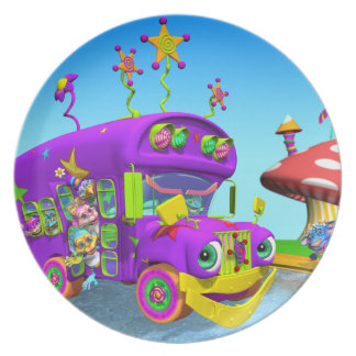 Fun Wheels On The Bus Plate