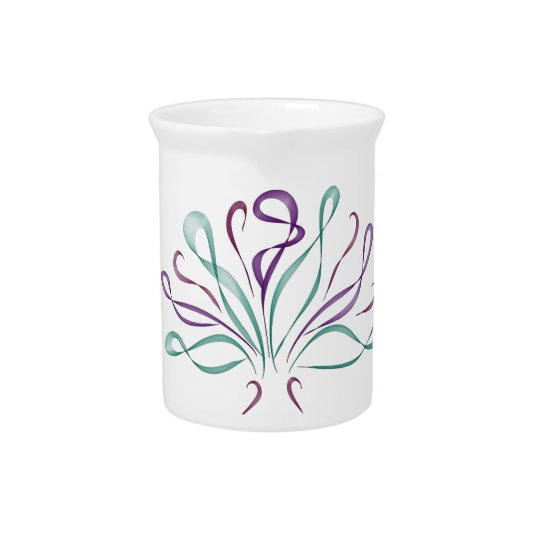Fun whimsical bouquet beverage pitcher