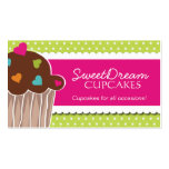 Fun Whimsical Cupcake Bakery Business Cards