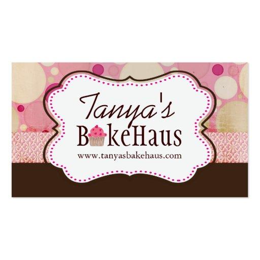Fun Whimsical Cupcake Business Cards
