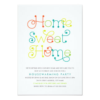Fun & Whimsical Housewarming Party Invitation