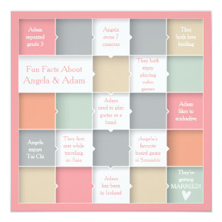Fun Whimsical Infographic Photo Save the Date Card