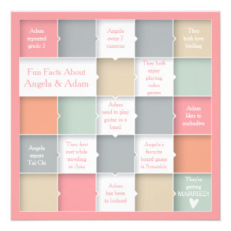 Fun Whimsical Infographic Photo Save the Date Personalized Invitation