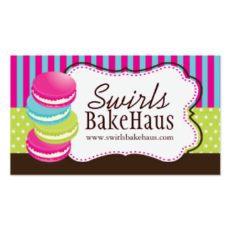 Fun Whimsical Macarons Business Cards