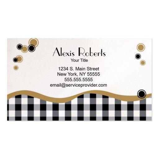 Fun Whimsical Plaid Business Card