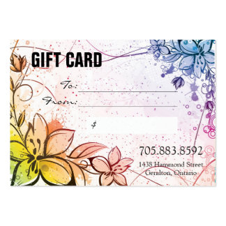 Fun Whimsical Rainbow Flowers Business Gift Card Business Cards
