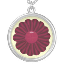 fun whimsy flower silver plated necklace