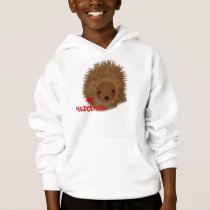 Fun Whimsy Mr Hedgehog Picture Hoodie