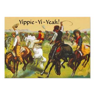 "Fun Wild West Yippie Yi Yeah Party Invitation 5"" X 7"" Invitation Card"