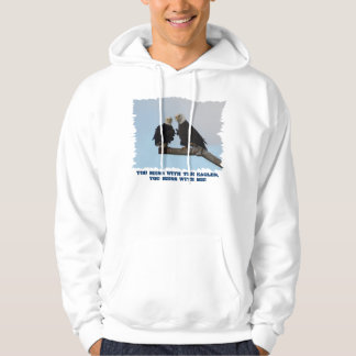 Fun Wildlife Supporter Bald Eagles Hoodie