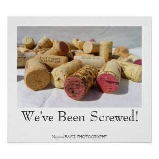 Fun Wine Cork Poster! Poster